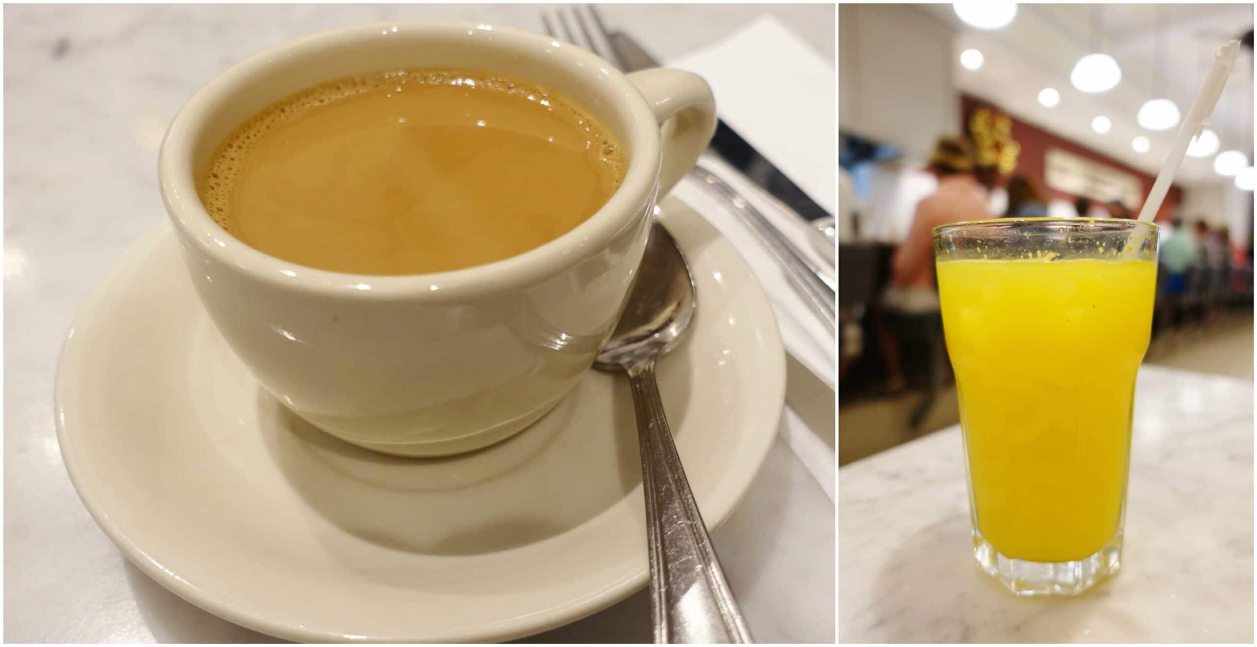 Cafe con Leche, Orange Juice - La Bombonera, San Juan, Puerto Rico