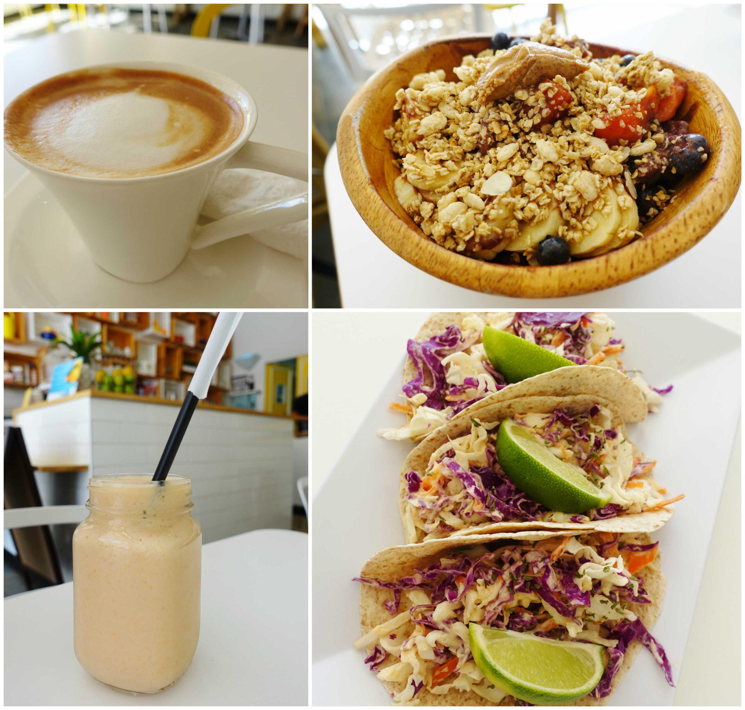 Cafe con Leche, Papayadise, Acai Bowl, Fish Tacos - BaJuice - Condado, San Juan, Puerto Rico