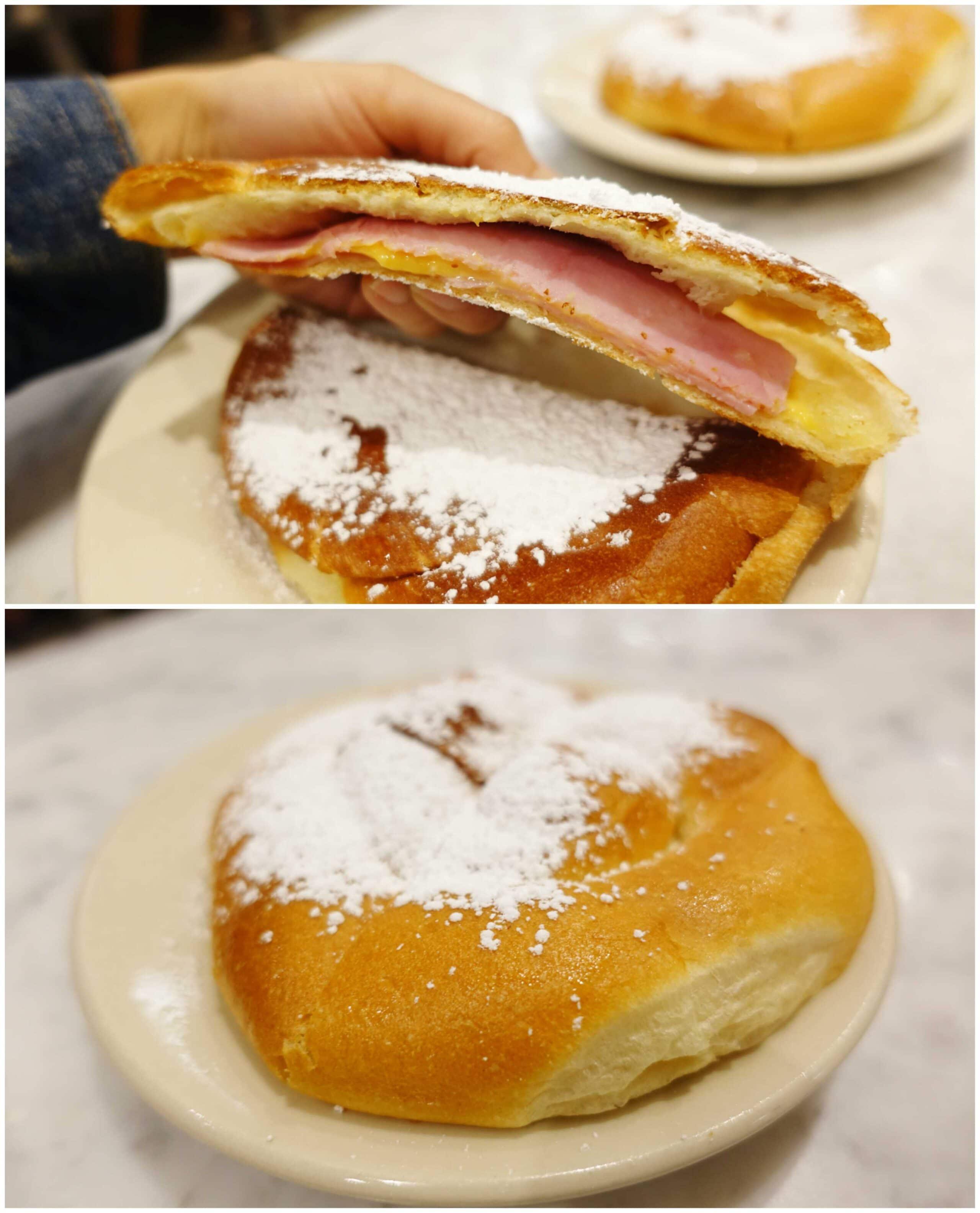 Ham & Cheese Mallorca Sandwich - La Bombonera, San Juan, Puerto Rico