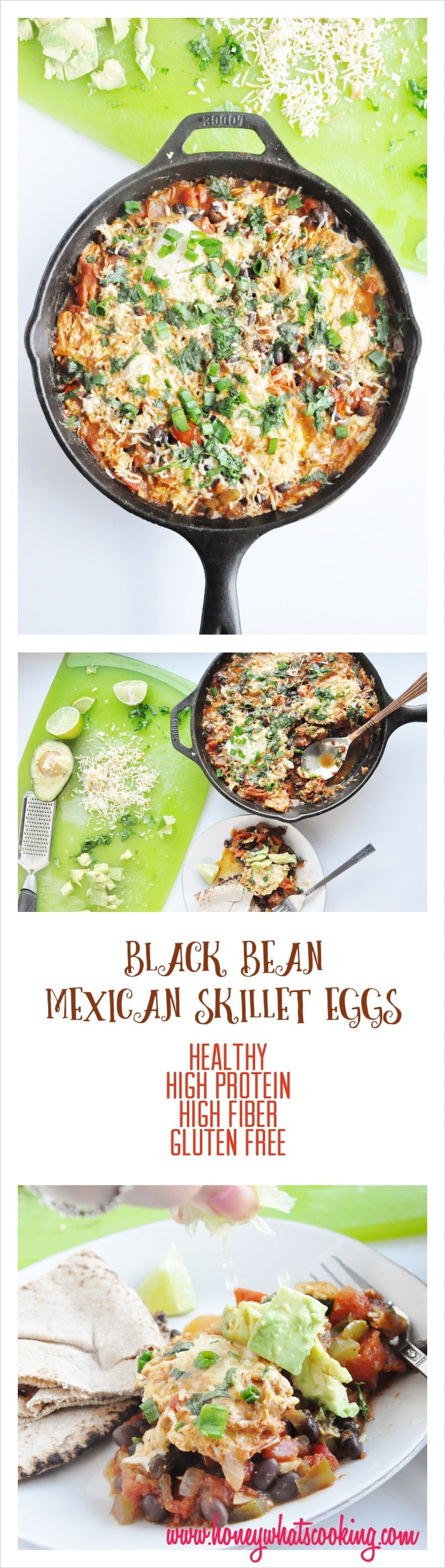 Black Bean Mexican Skillet Eggs pin