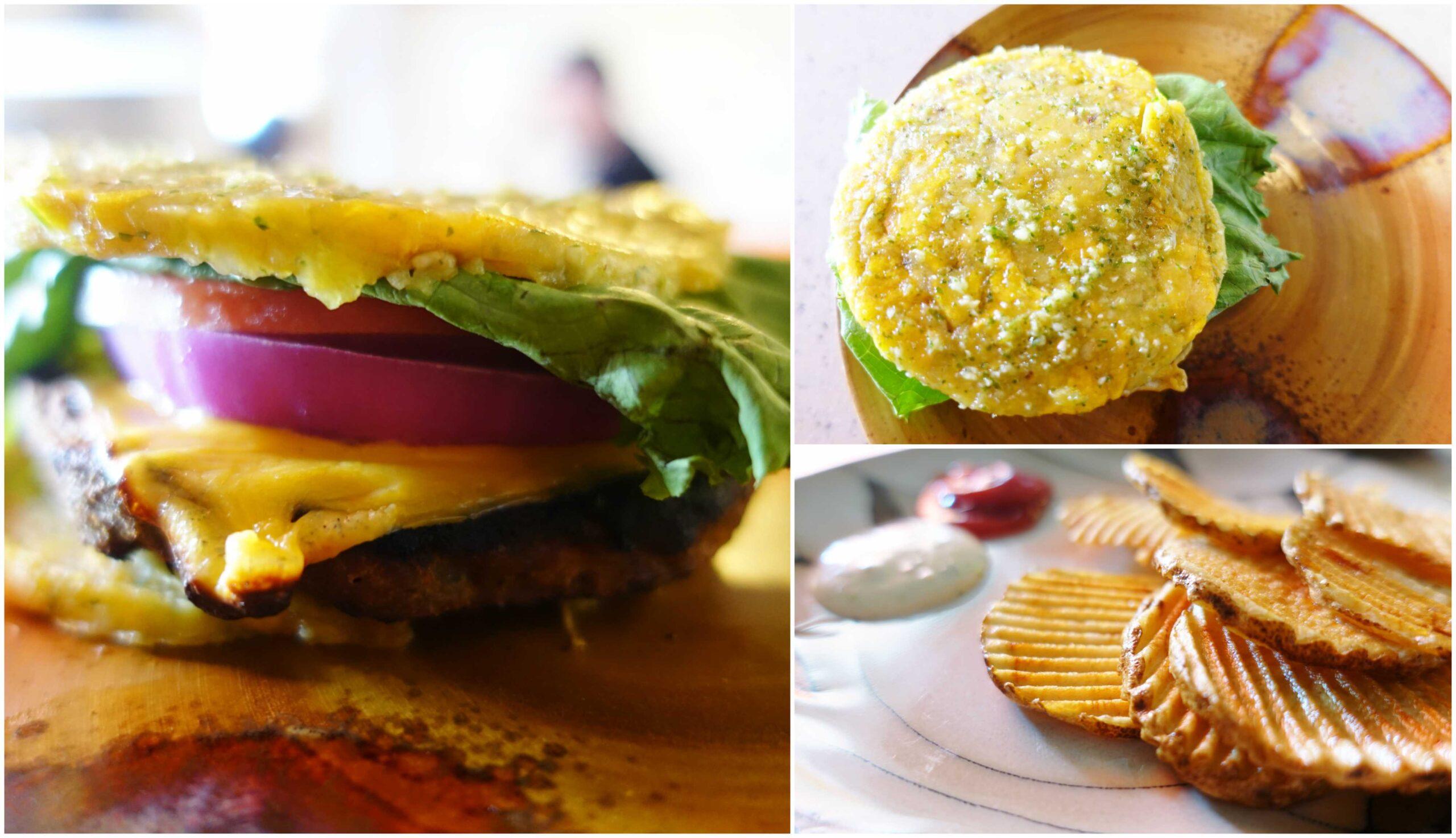 Sweet Potato Vegetables Veggie Burger - Mi Vida Cafe & Burger, Rio Grande, Puerto Rico