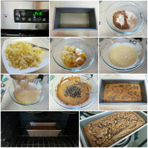 Double Chocolate Banana Bread step by step