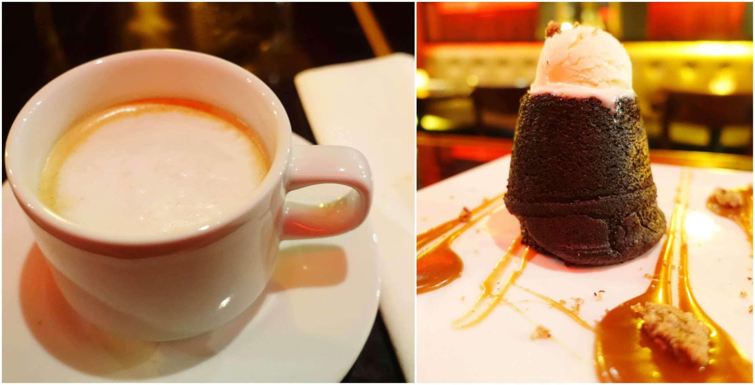 Cafe con Leche, Dragon Lava Cake - Dragonfly, San Juan, Puerto Rico