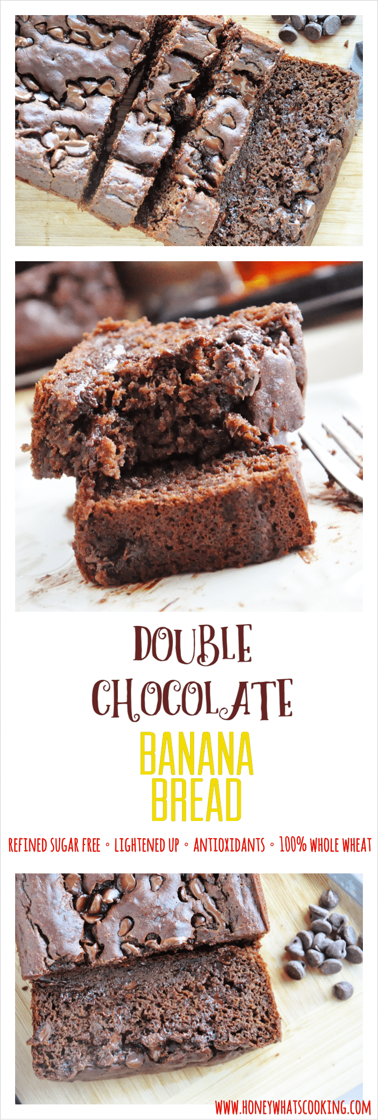 Double Chocolate Banana Bread pin