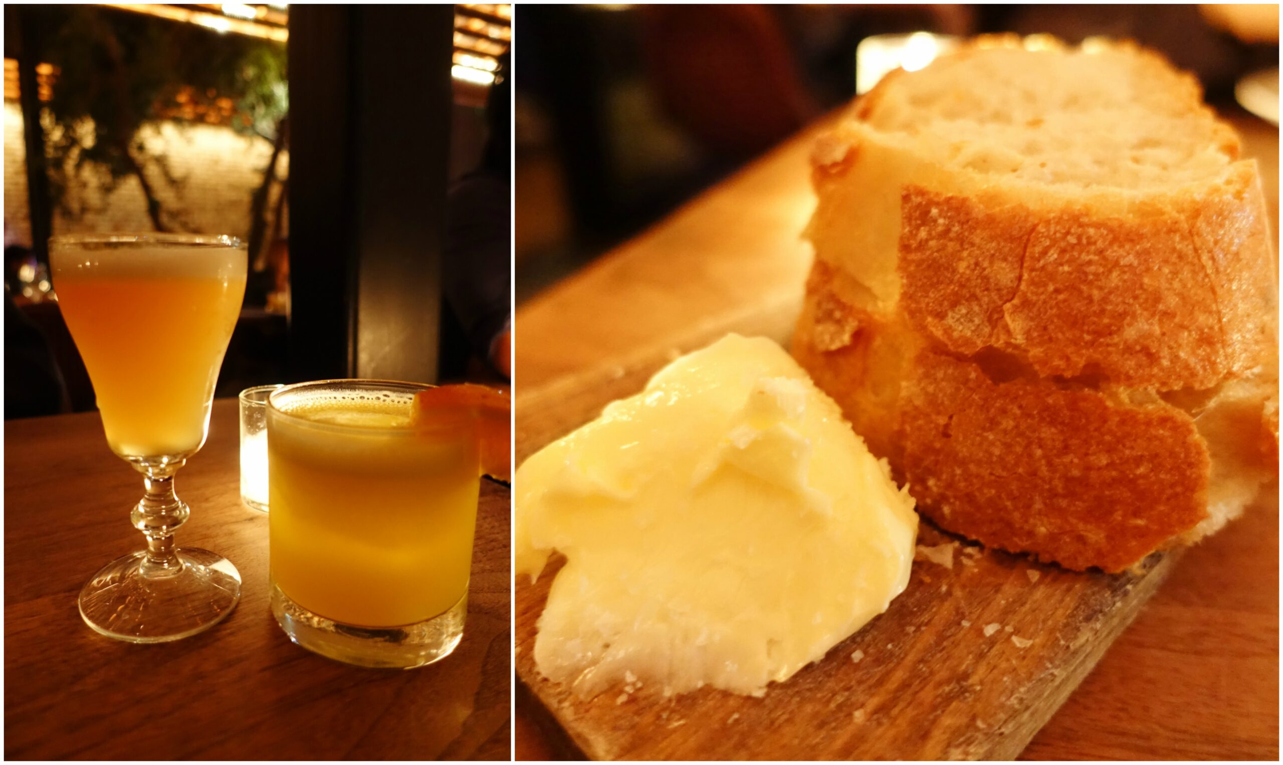 Cocktails, Bread & Butter - The Tasting Kitchen - Venice, Los Angeles, California