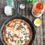Crispy Cauliflower Pizza (low-carb, high protein, high fiber, gluten-free)