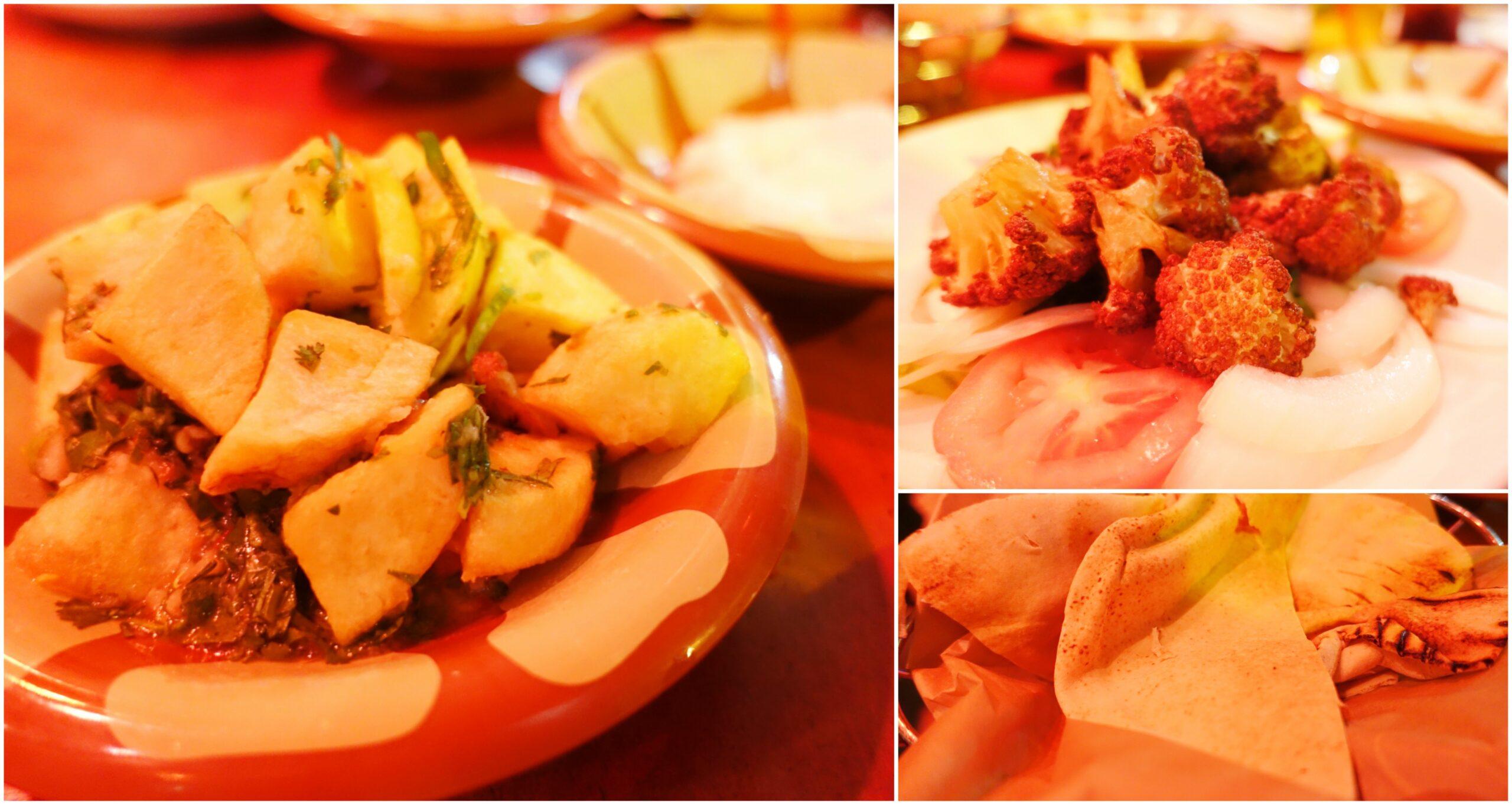 Fried Potatoes, Fried Cauliflower, Pita - Open Sesame, Long Beach, California