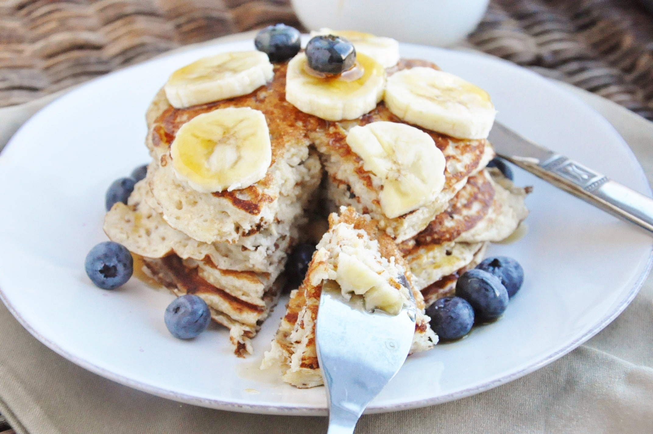 High Protein Banana Bread Pancakes (12)