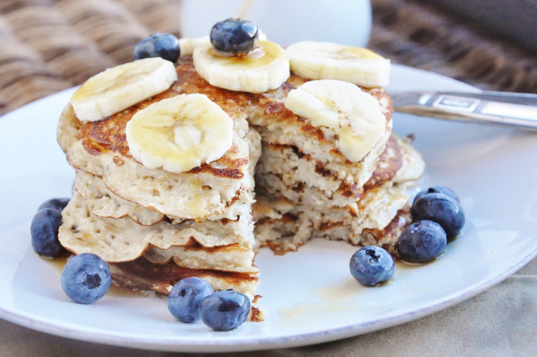 High Protein Banana Bread Pancakes (15)