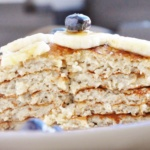 15 Minute High Protein Banana Bread Pancakes (healthy, refined sugar free, 100% whole grain, 7 ingredients or less)