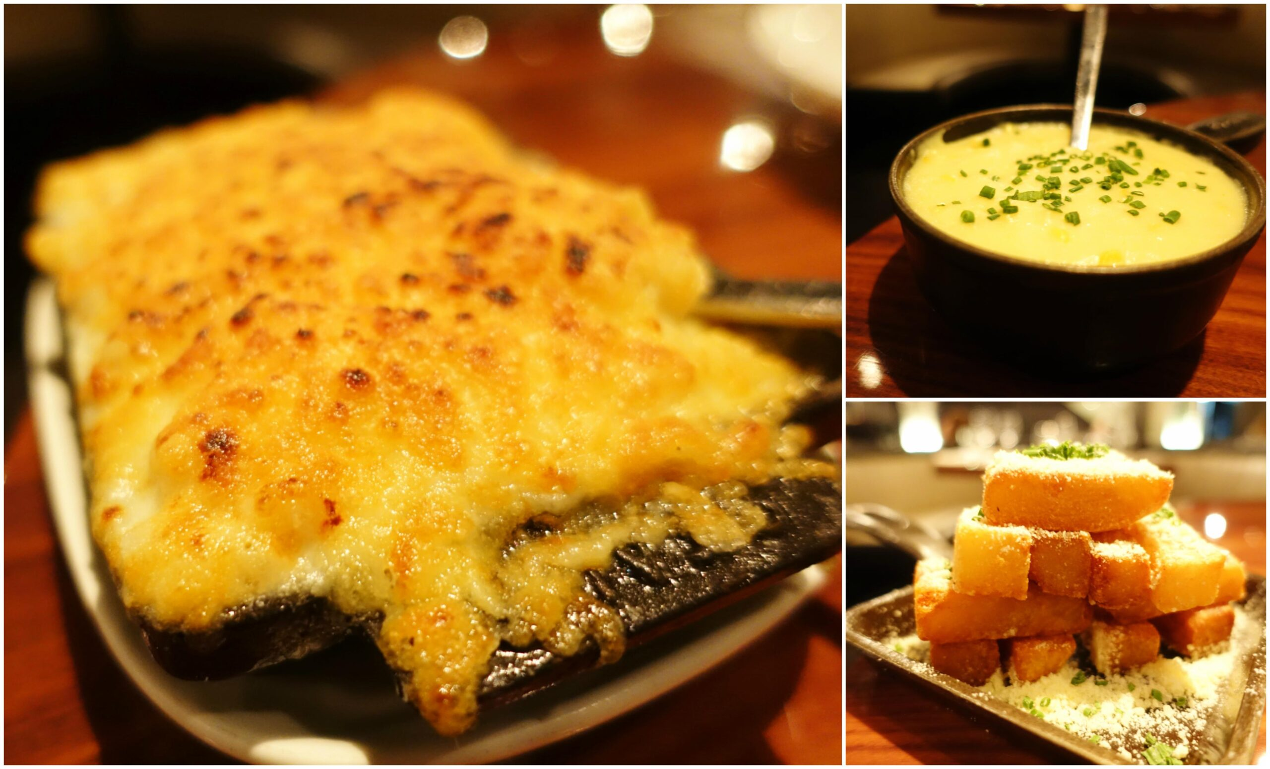 Mac & Cheese, Sweet Corn Pudding, Truffle Fries - STK Downtown, New York City