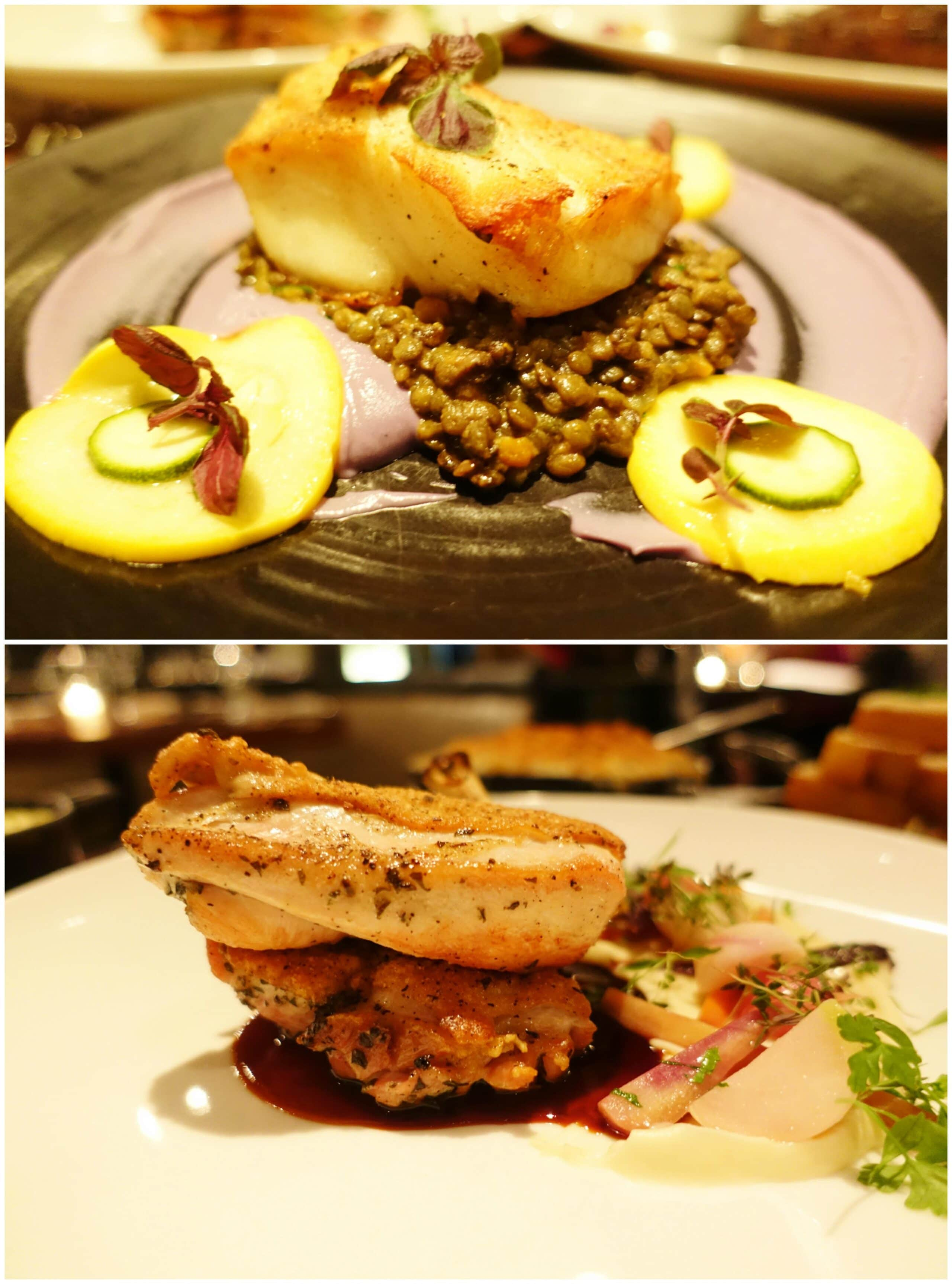 Roasted Chillean Seabass, Herb Marinated Amish Chicken - STK Downtown, New York City
