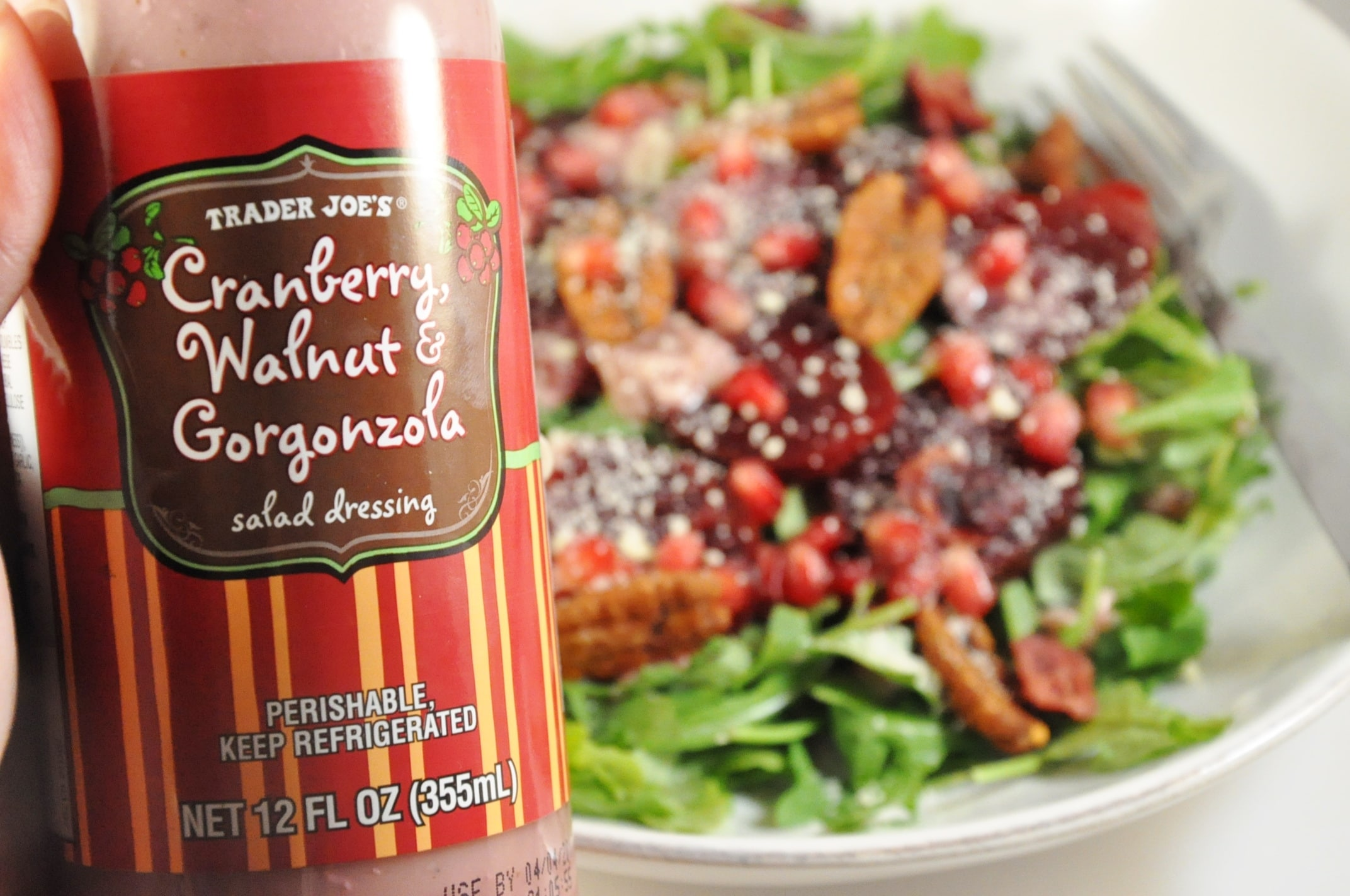 Trader Joe's Cranberry, Walnut & Gorgonzola Dressing