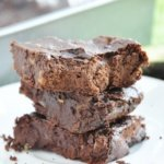 Flourless Avocado Walnut Brownies (healthy, antioxidants, gluten-free, low-carb, refined sugar free, dairy-free)
