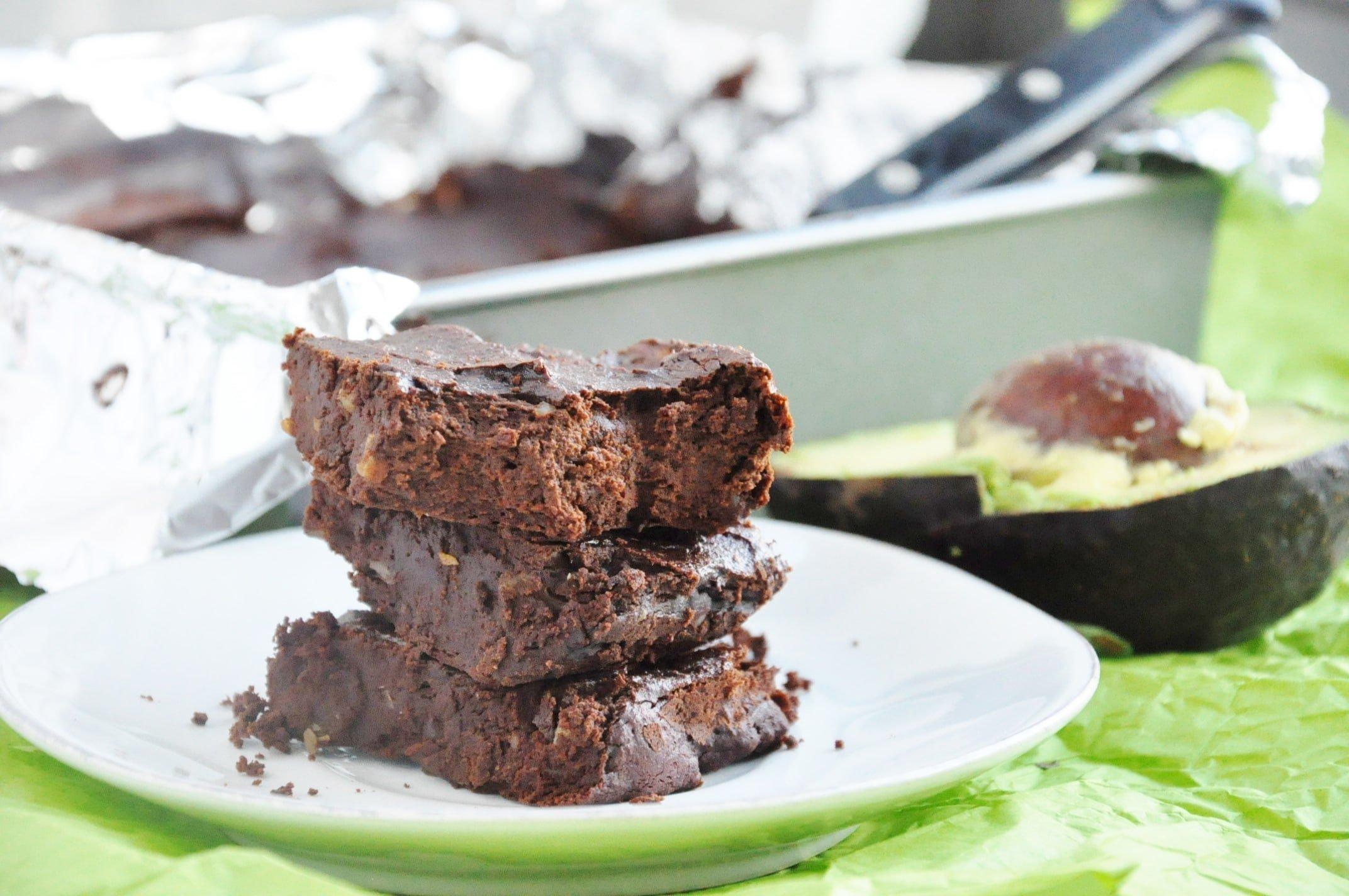 Avocado Walnut Brownies (16)