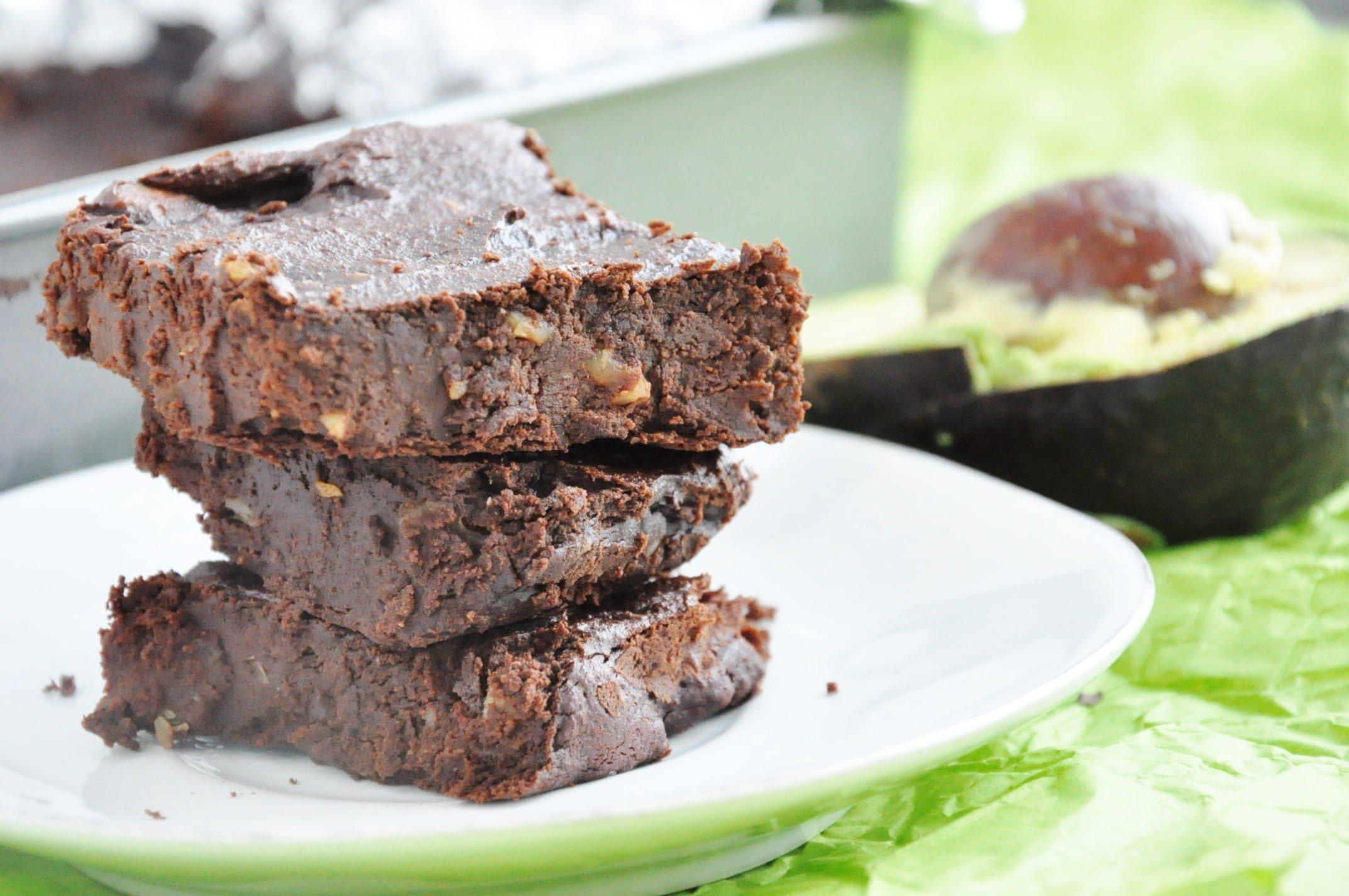 Avocado Walnut Brownies (9)