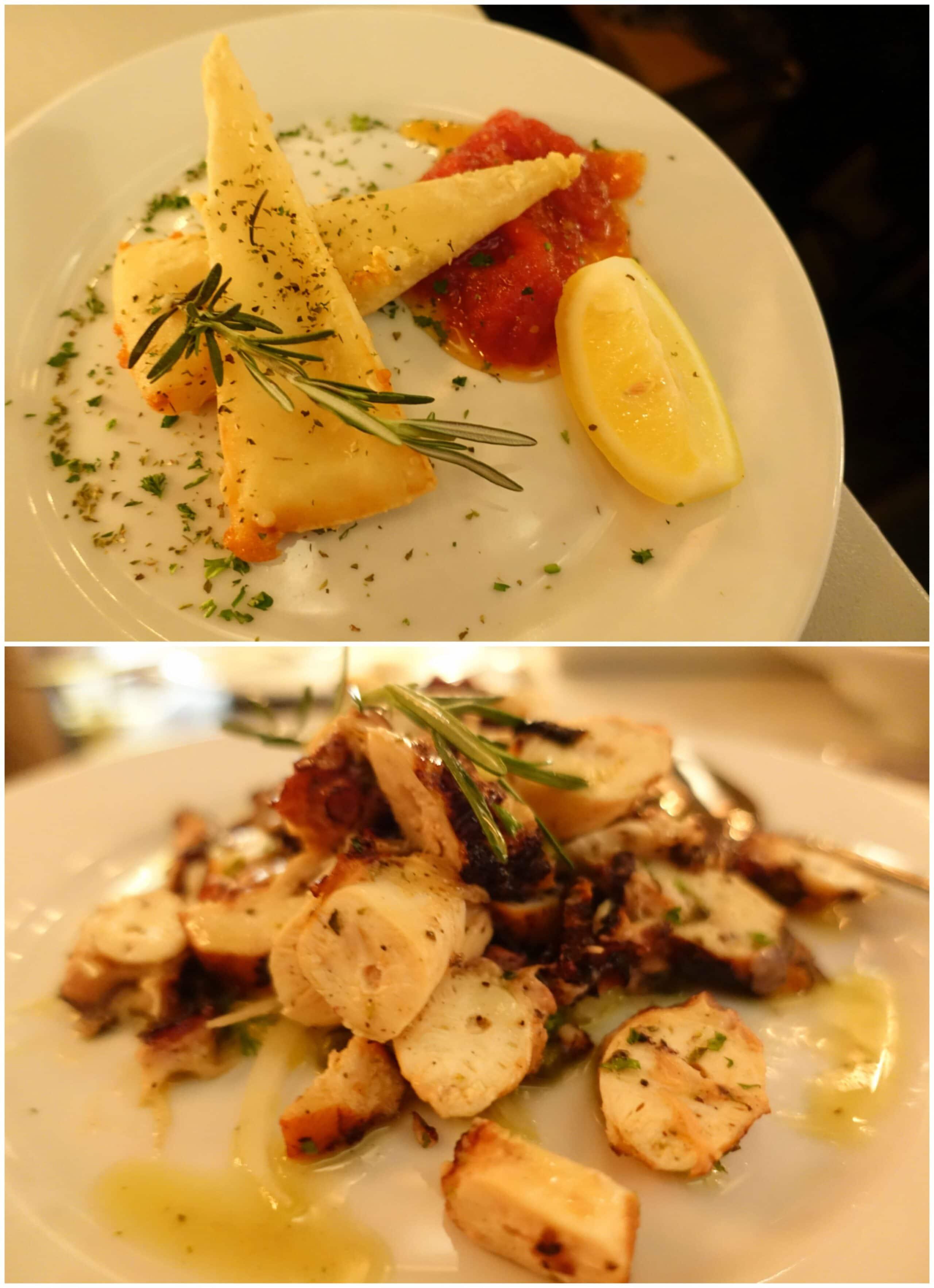 Cheese Saganaki, Grilled Octopus - Nisi Estiatorio, New York City