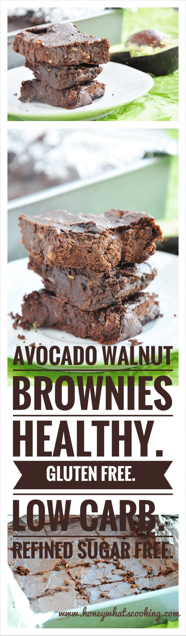 Avocado Walnut Brownies Pin