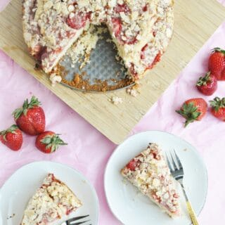 Strawberry Almond Crumb Cake (lightened up)