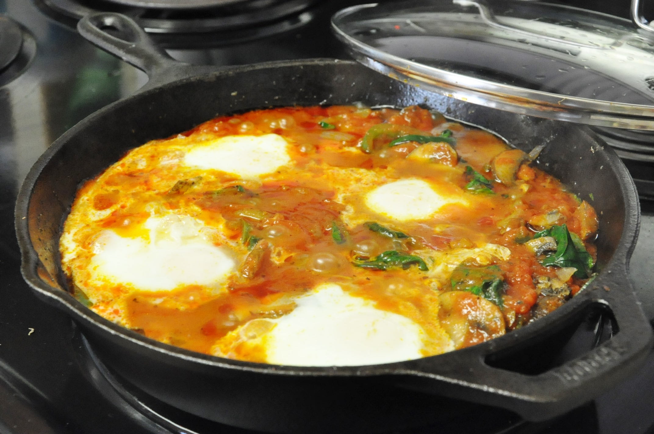 Veggie Pizza Skillet Eggs