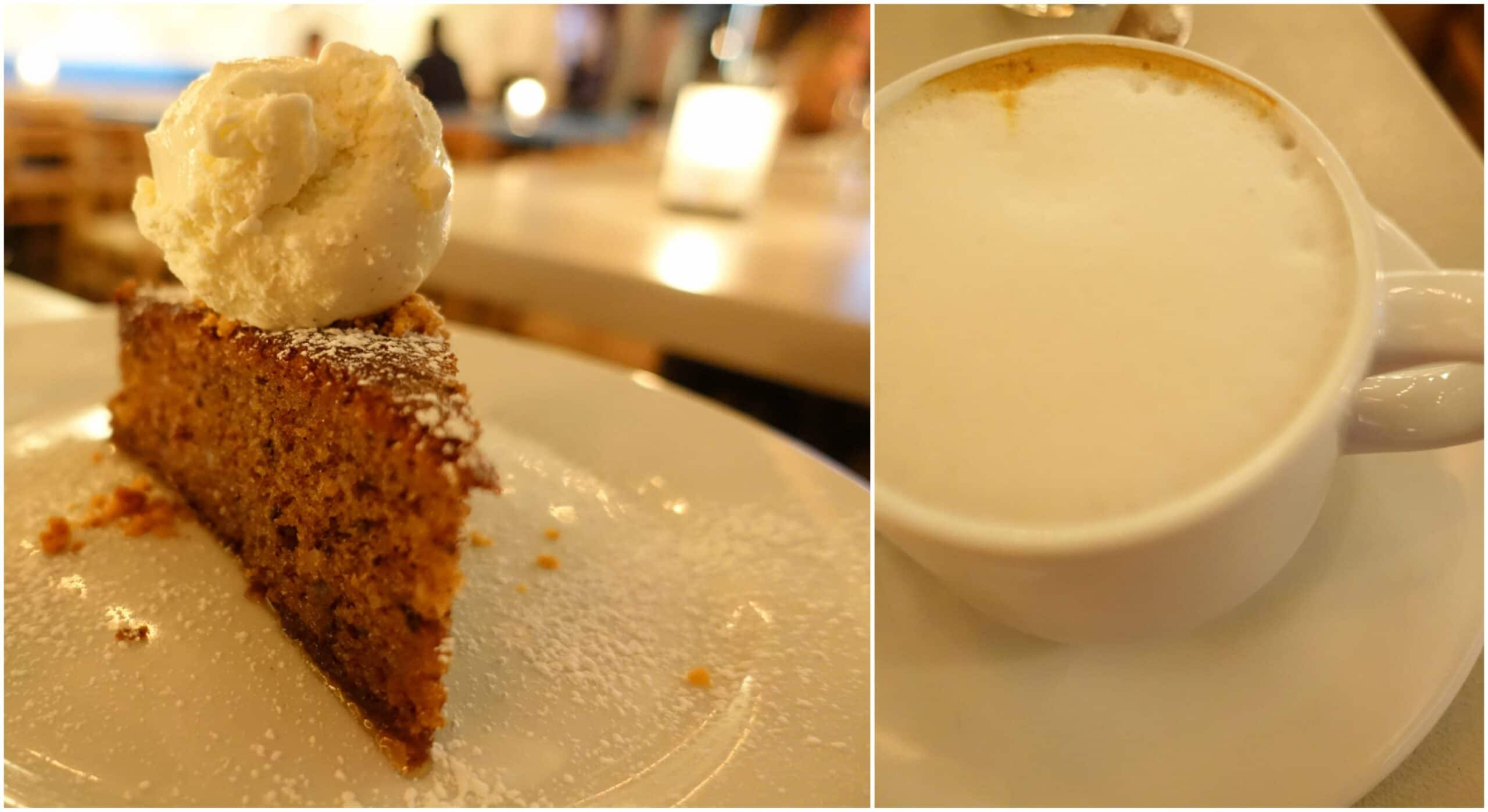 Walnut Cake, Cappuccino - Nisi Estiatorio, New York City