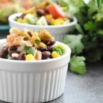 15 Minute Black Bean, Corn & Avocado Salad (healthy, vegan, dairy-free, gluten-free, high protein, high fiber)