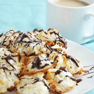 5 Ingredient Coconut Macaroons (gluten-free, lightened up, low-carb, dairy free)