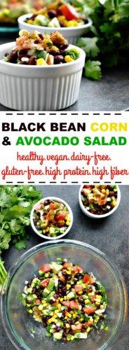Black Bean Corn Avocado Salad pin