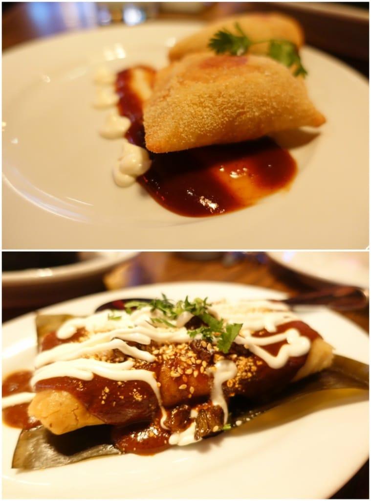 Short-Rib Empanadas, Chicken Tamale - El Toro Blanco, NYC