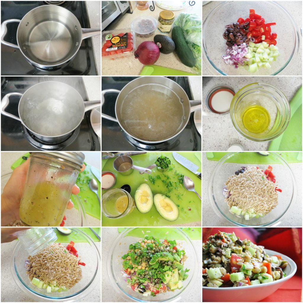 Mediterranean Orzo Salad - step by step