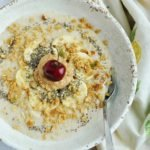Creamy Steel Cut Oats (healthy, high protein, high fiber)