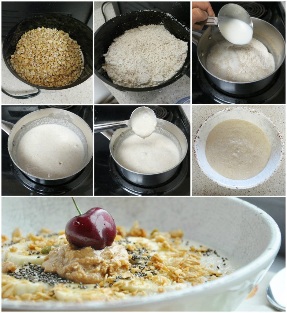 Creamy Steel Cut Oats step by step