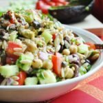Mediterranean Orzo Salad (dairy-free, vegan, healthy, 100% whole wheat)