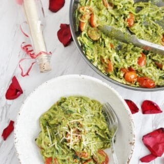Avocado Pesto Zucchini Noodles + A Proposal