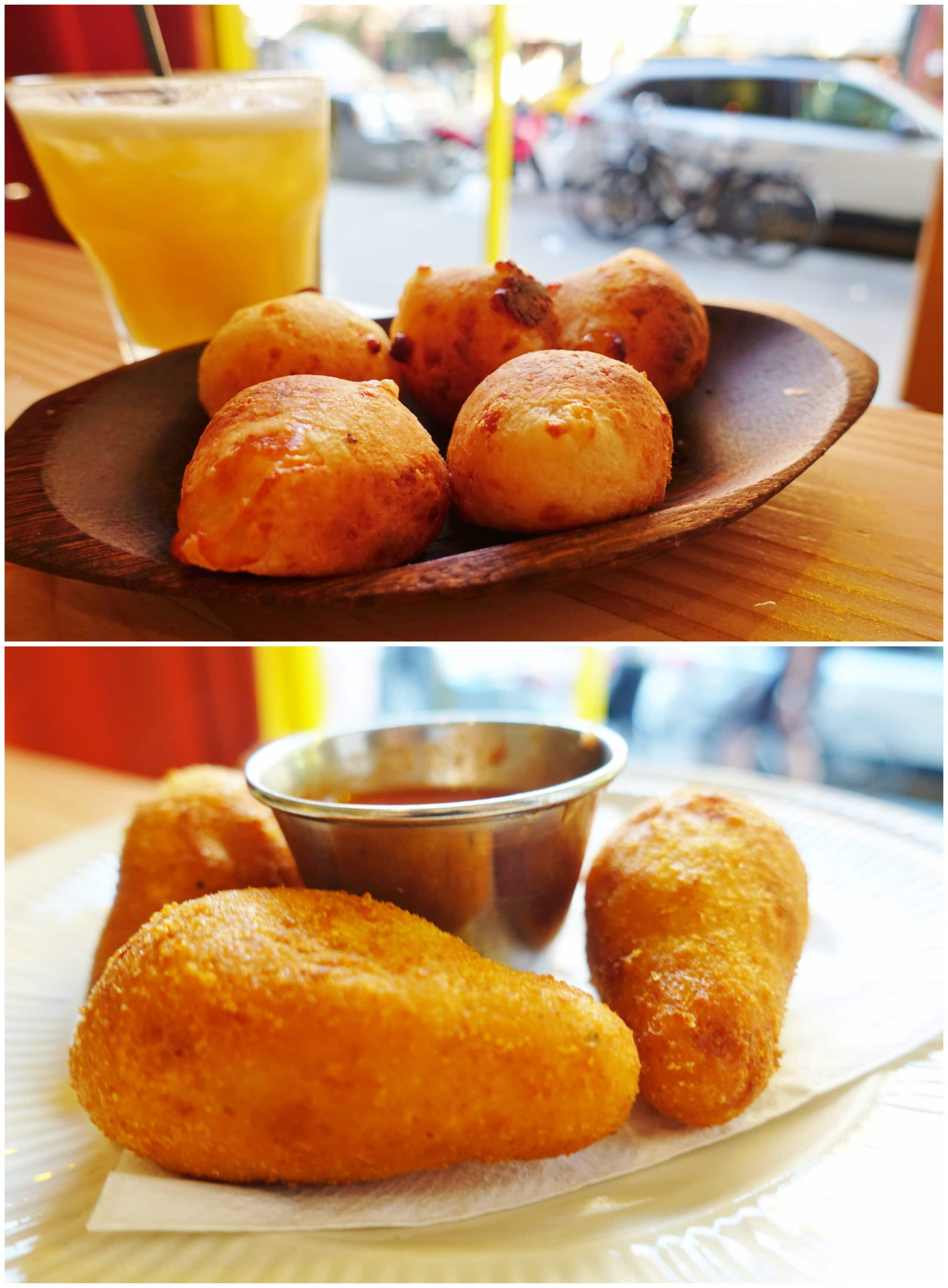 Cheese Bread, Croquttes - Berimbau do Brasil, NYC