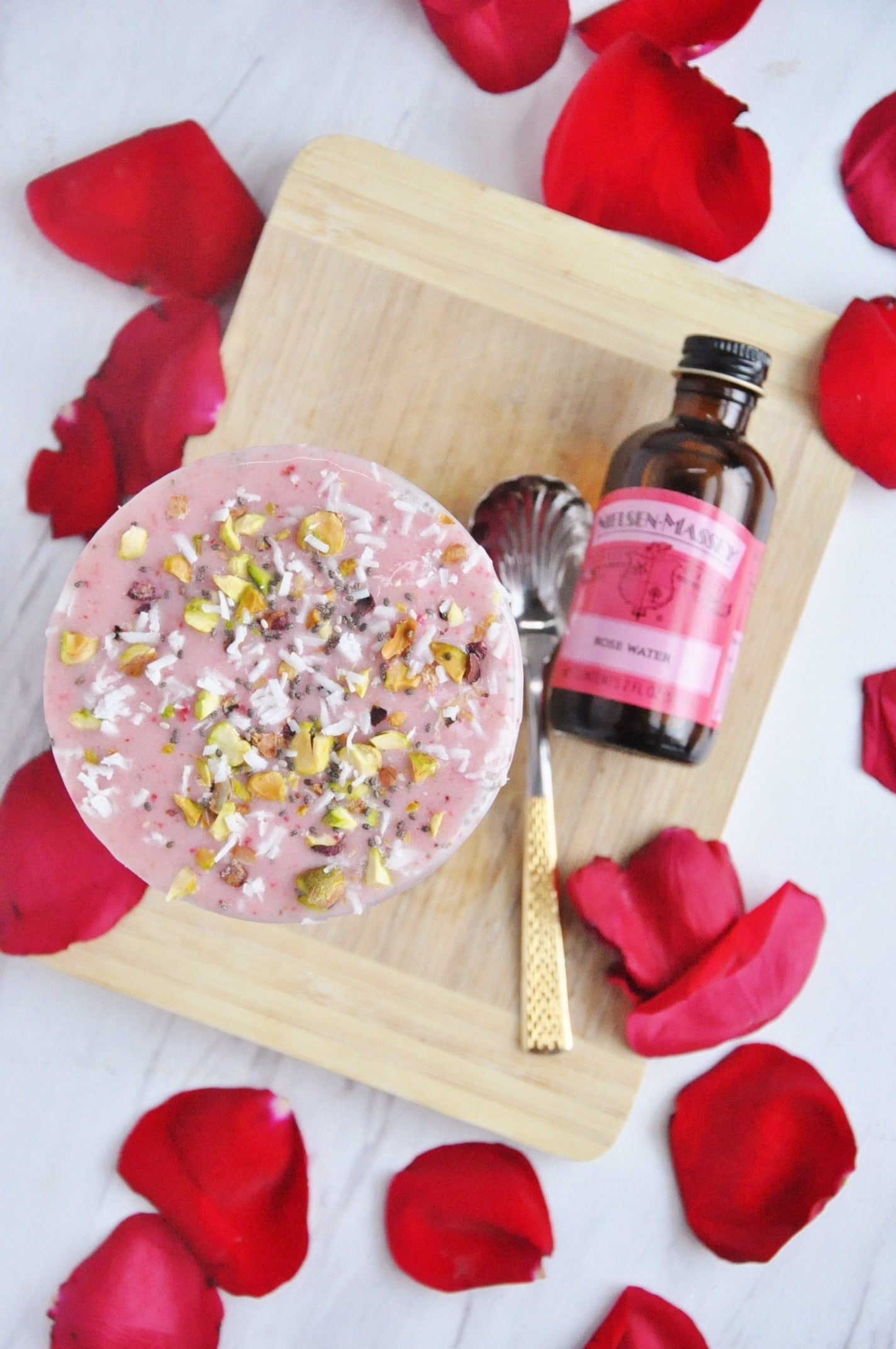 Rosewater Strawberry Smoothie Bowl
