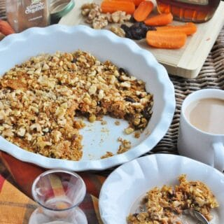 Baked Carrot Cake Oatmeal (healthy, dairy-free, high protein, high fiber)