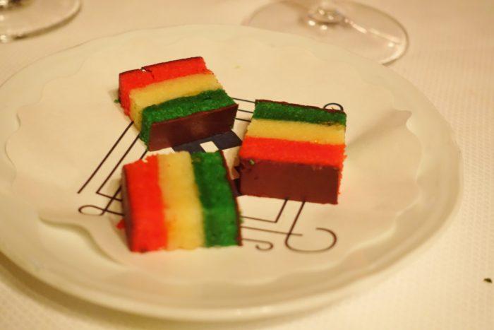 Rainbow Cookie Cake - Carbone NYC