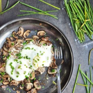 Sauteed Mushrooms with Eggs and Truffle Oil (Paleo, Gluten Free, Dairy Free, Low Carb)