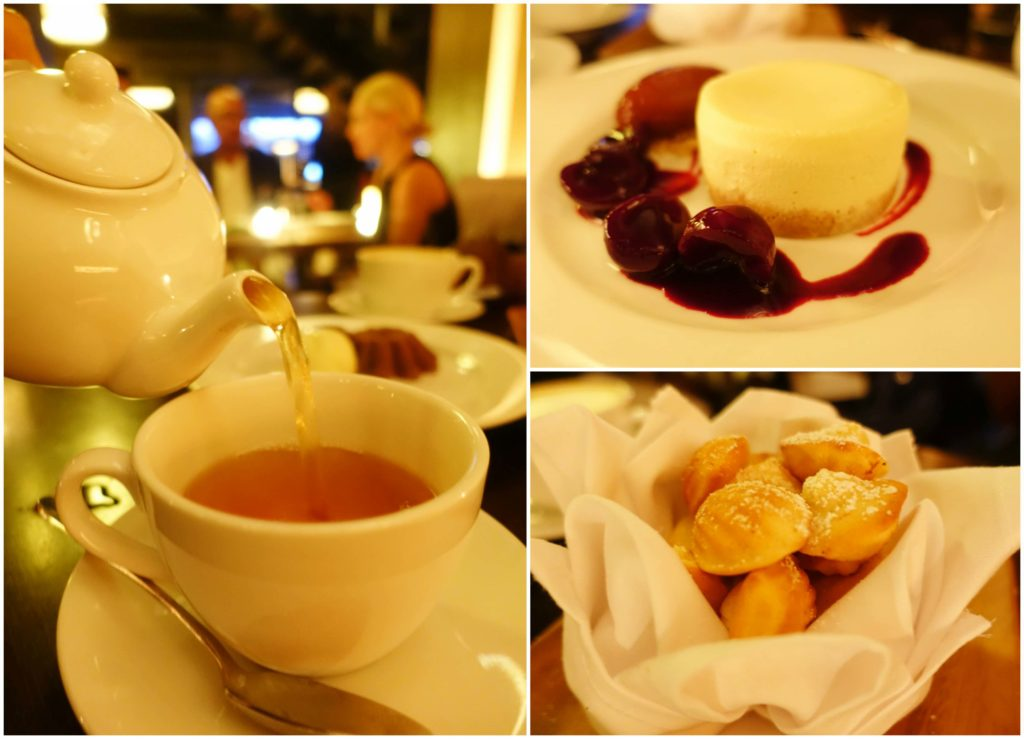 Tea, Sour Cream Cheesecake, Madeleines - The Mercer Kitchen, NYC