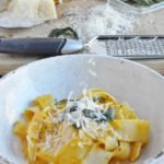 Butternut Squash Pappardelle with Sage and Parmesan (lightened up)