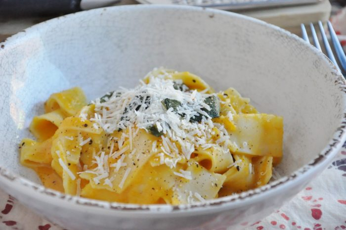 Butternut Squash Pappardelle with Sage and Parmesan