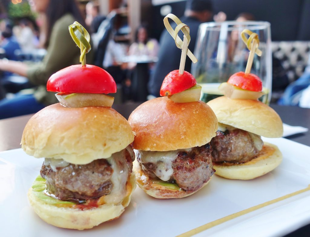 Kobe Beef Sliders - Upstairs at The Kimberly Hotel