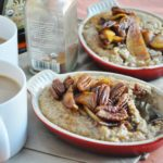Apple Pecan Pie Oatmeal (gluten free, high protein, high fiber, healthy, almost vegan)