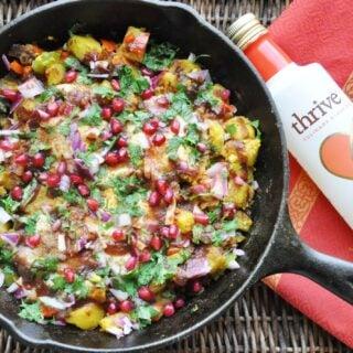 Chaat Masala Eggs and Potato Hash (gluten-free, dairy-free, paleo-ish, healthy)