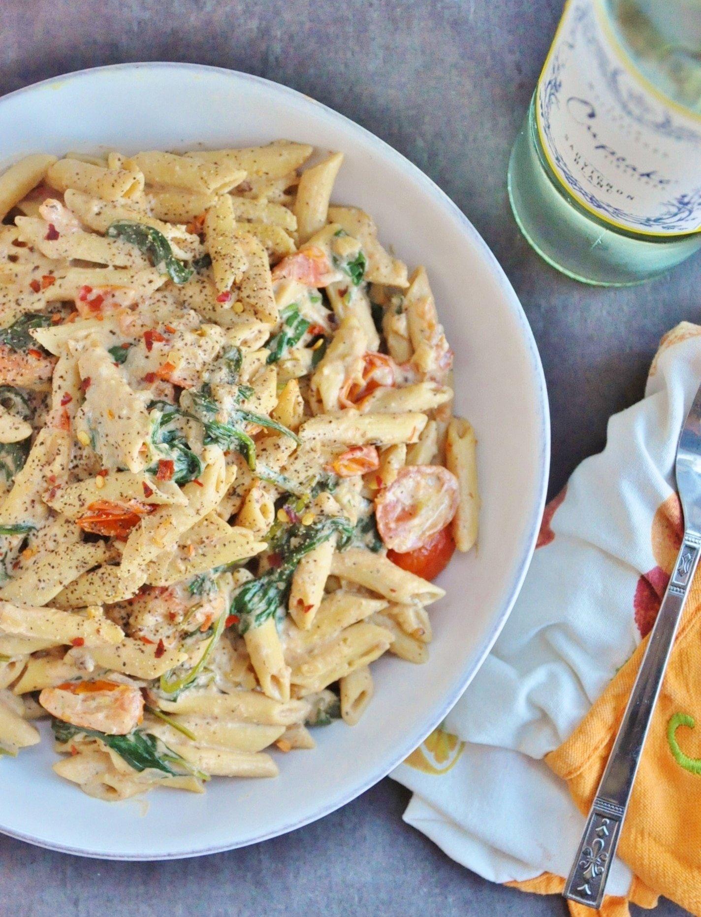 Creamy Spicy Vegan Pasta (gluten-free)