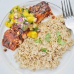 Baked Chipotle Lime Salmon with Mango Salsa (healthy, gluten-free, dairy-free, paleo, 10 ingredients)