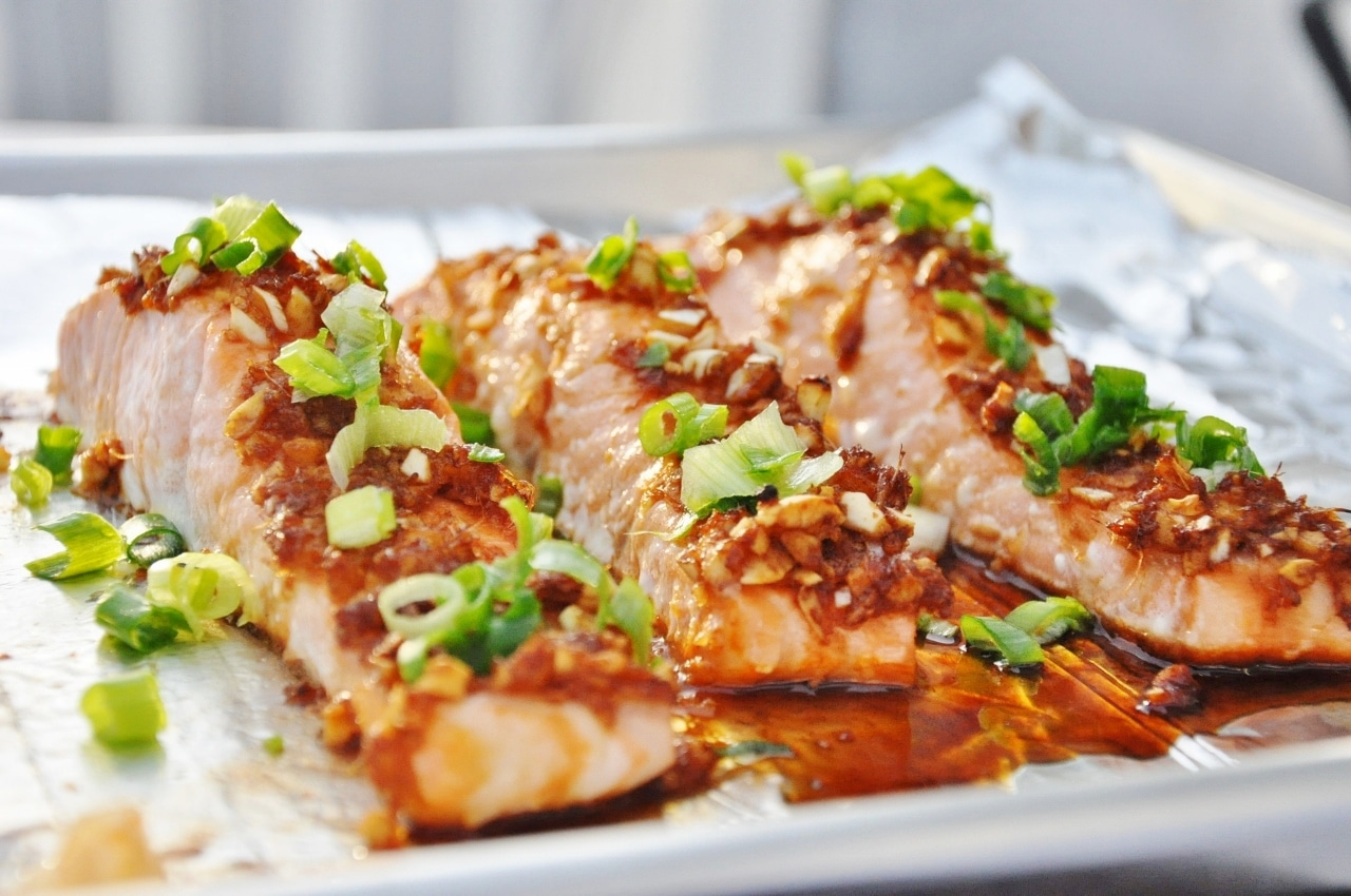 Honey glazed ginger garlic salmon 12