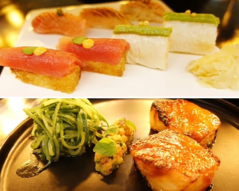 Queensland Sushi Roll, Dengakuman Miso Cod - Sokyo, Sydney