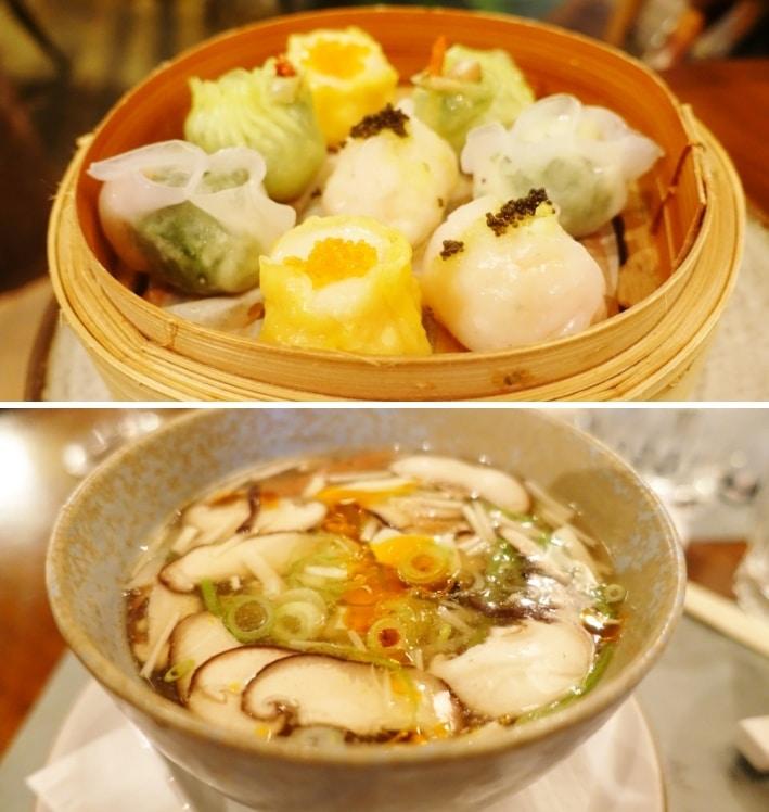 Steamed Dim Sum Platter, Hot & Sour Soup - Mr. Wong, Sydney